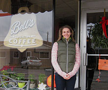 Carrie Luckner-Zimmerman of Bell's Country Coffee, a Farmingdale SBDC Success Story