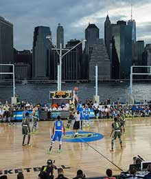 A basketball court from Creative Sports Concepts, an Albany SBDC 2016 Success Story
